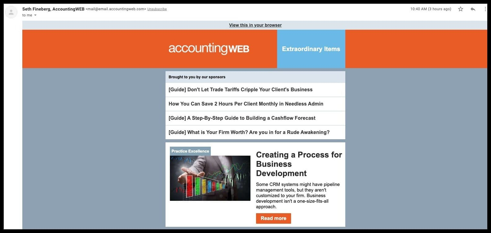 accountingweb newsletter