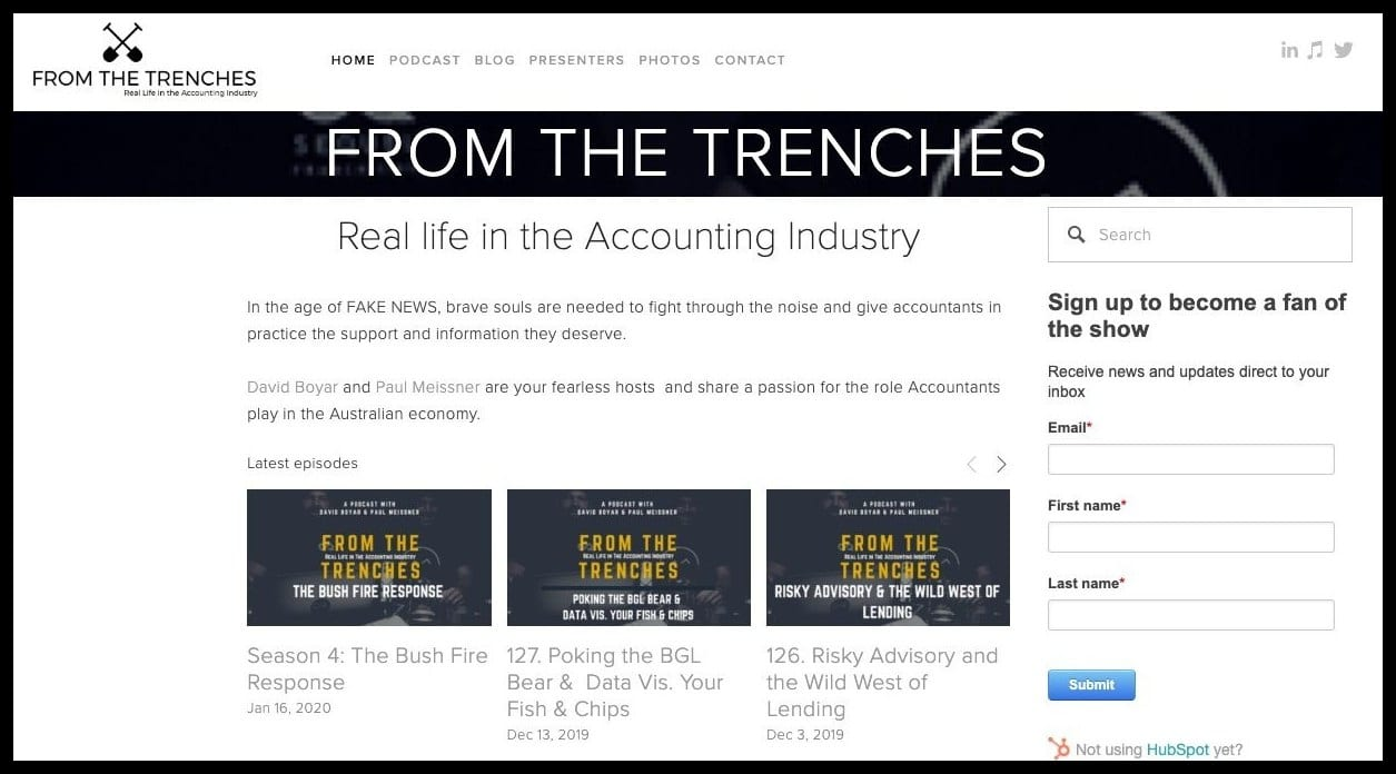 from the trenches accounting news