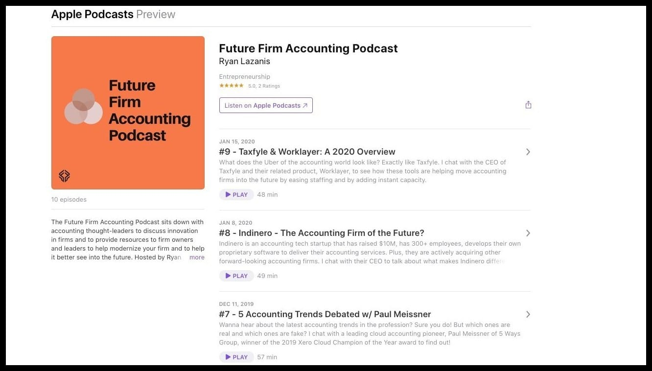 future firm accounting podcast accounting news