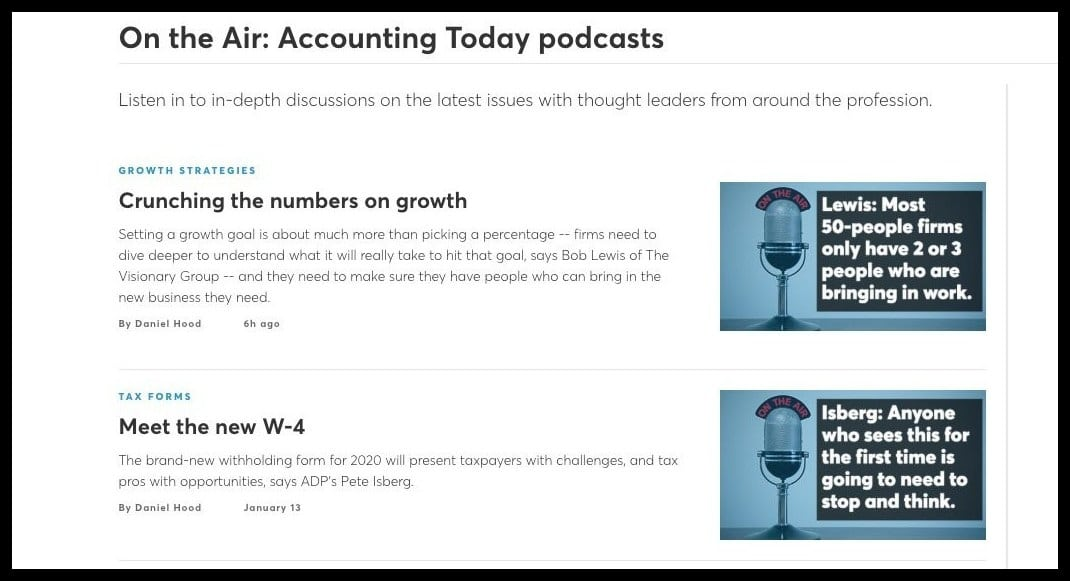 accounting today podcast