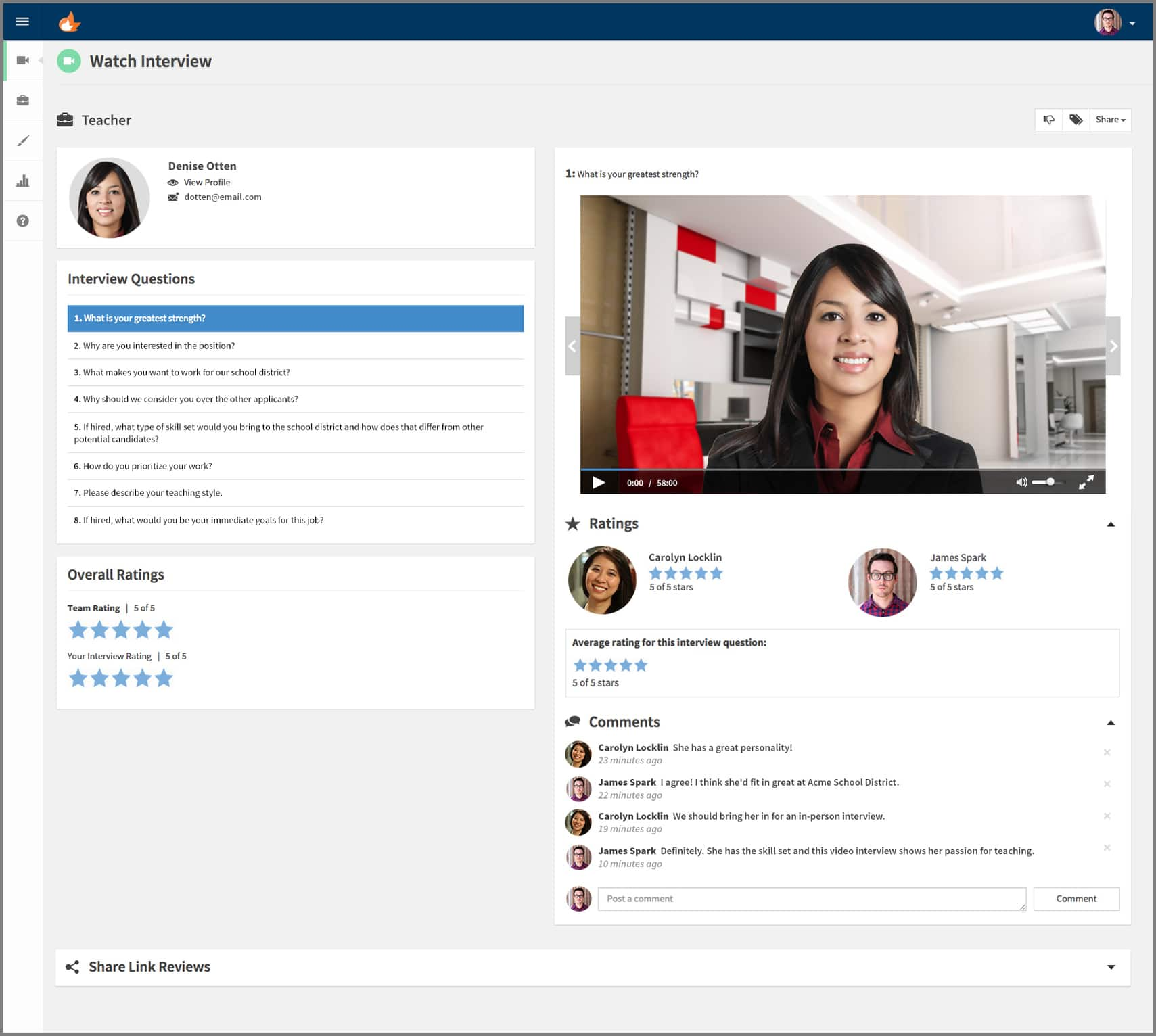 Spark Hire One-Way Video Interview automation in accounting