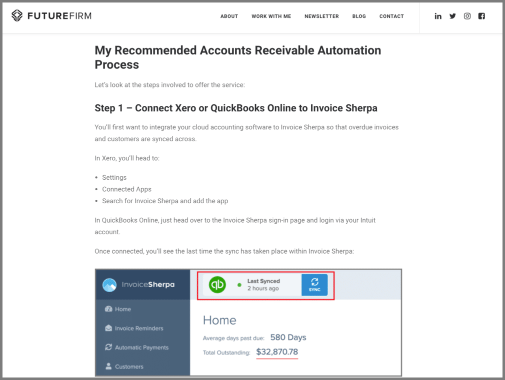 automate accounts receivable invoice sherpa