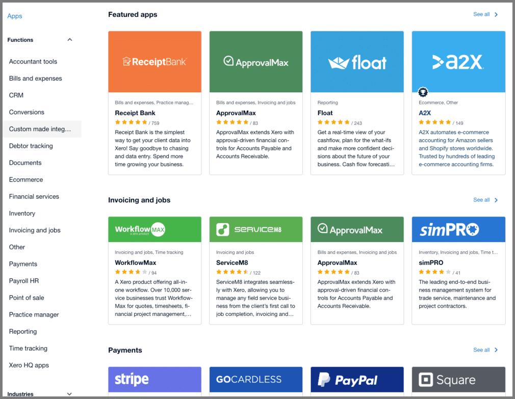 xero app marketplace accounting automation