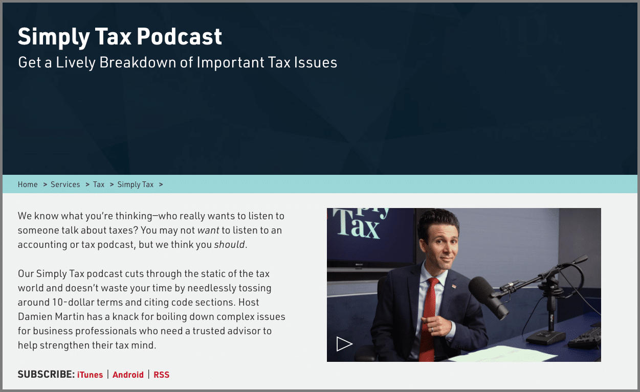 simply tax accounting podcasts
