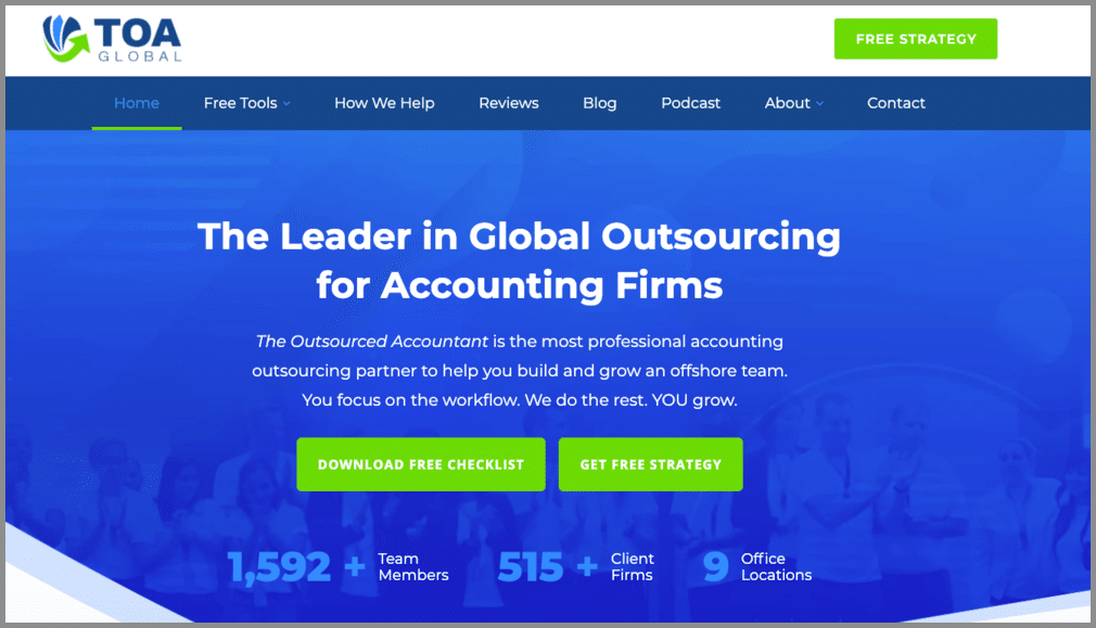 toa global outsourced bookkeeping for cpas
