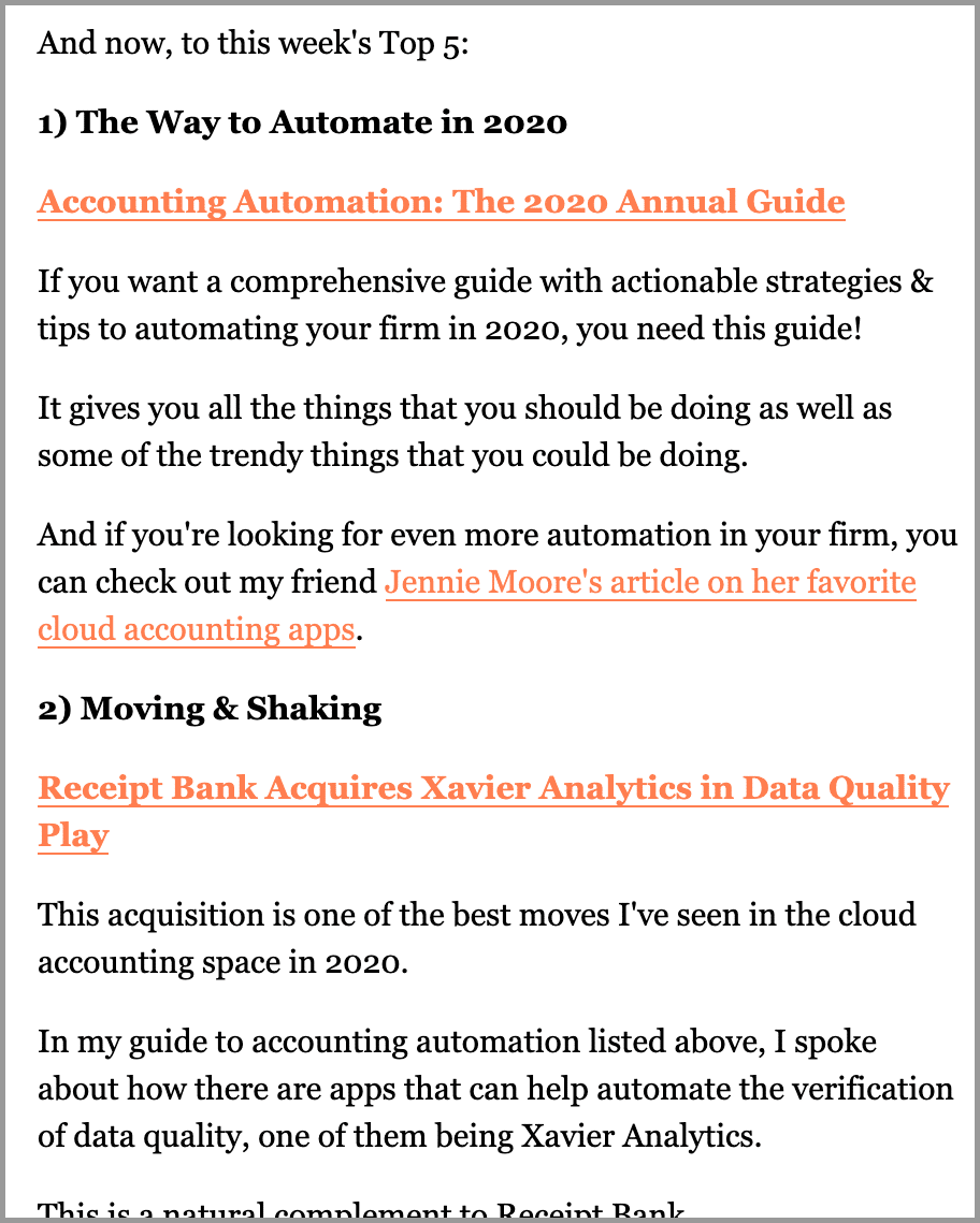 accounting newsletter