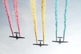 Plane Colored Smoke