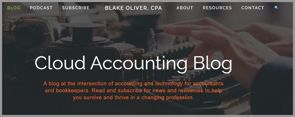 Blake Oliver Accounting blogger