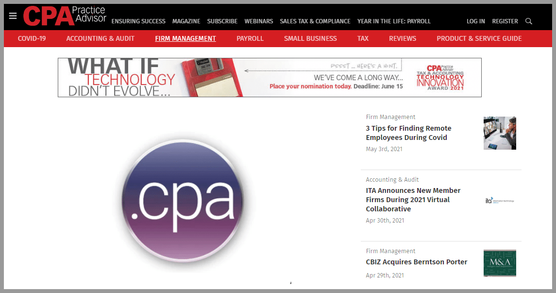 CPA Practice Advisor Accounting blogger