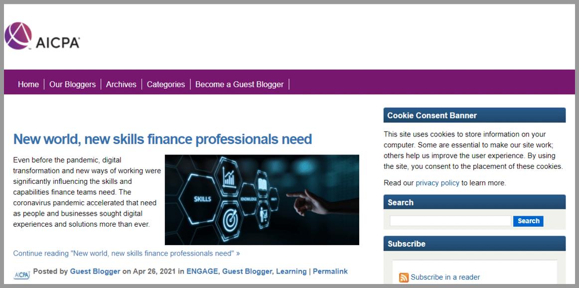 AICPA Insights Accounting blogger
