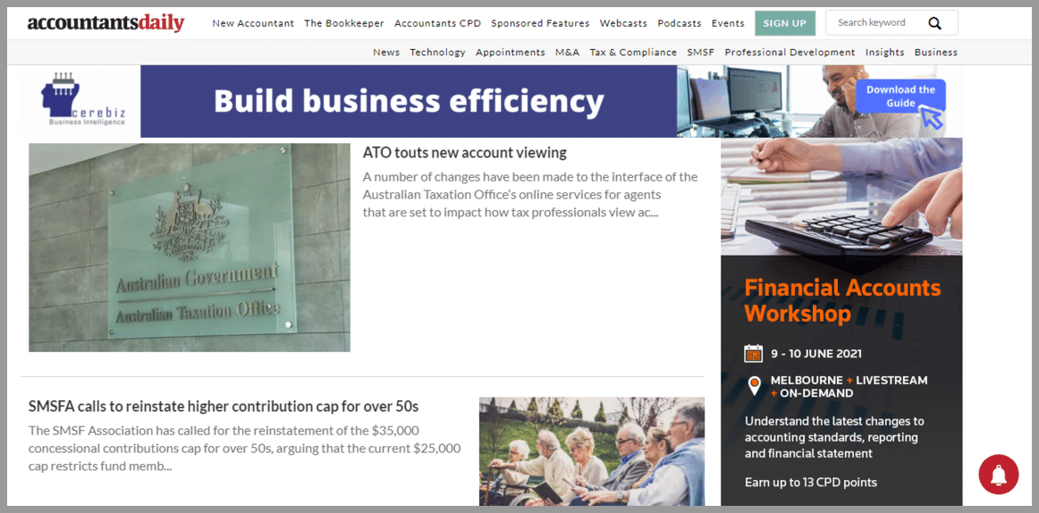 Accountants Daily blog