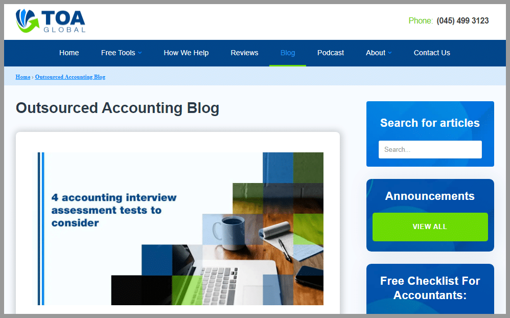 TOA Global Accounting blogger